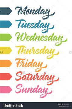 119 Best ꧁week Days꧁ Images In 2017 Classroom Calendar