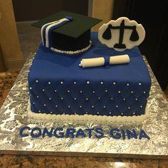 College graduation cake for a criminal justice major!  Criminal justice cake!