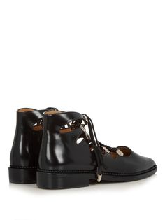 Love this by TOGA Lace-up leather ankle boots - $397