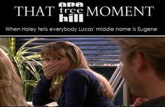 Haley James Scott. Lucas Scott. One Tree Hill. OTH. Bethany Joy Lenz. Chad Michael Murray. That One Tree Hill Moment.