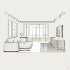 Living room sketch interiorsketch interiorillustration interior bestsketch archsketch arqsketch arch_cad arch_more architectureape Interior Architecture Drawing, Architecture Concept Drawings, Drawing Interior, Interior Design Sketches, Home Interior Design, Architecture Design, Interior Plants, Classical Architecture, Room Sketch