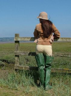 Green Rubber Waders