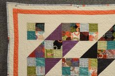 Jacob's Ladder quilt | Craftsy finished with help from  Beyond Basic Machine Quilting