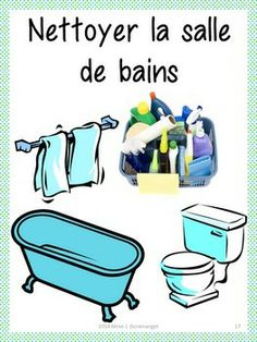 1000 images about t ches quotidiennes on pinterest fle for Nettoyage salle de bain