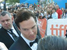 Benedict Cumberbatch at premiere of 'The Fifth Estate' at the Toronto International Film Festival, 2013.