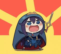 The perfect Lucina Umaru Chibi Animated GIF for your conversation. Discover and Share the best GIFs on Tenor. Fire Emblem Awakening, Female Robin Fire Emblem, Final Fantasy Funny, Lolis Neko, Himouto Umaru Chan, Shadow Dragon, Fire Emblem Games, Fire Emblem Characters, Pokemon