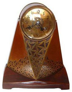 Erhard & Söhne, brass and rosewood mantle clock