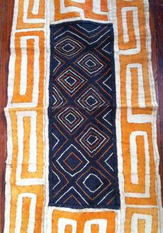 Image of Orange Kuba Cloth