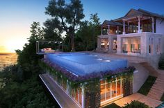 (Image-TripAdvisor Vacation Rentals) Spectacular Cliffside Villas: Luxury Villa Sunyata, Phuket-Perched above the bay of Kata on the south-west coast of Phuket, Villa Sunyata offers captivating views over the Andaman Sea. You can even enjoy the sights from the pool which sits on the edge of the property overlooking the ocean.