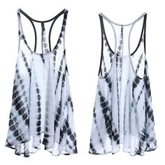 The T'Asia Tie dye Racerback top - WHITE 100% polyester. Pair with a tank, tube bra, or a fun bralette. ‼️️NO TRADE, PRICE FIRM‼️ Tops