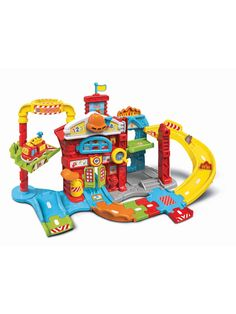 Superb VTech Toot-Toot Drivers Fire Station Now at Smyths Toys UK. Shop for Vtech Pre-School At Great Prices. Free Home Delivery for orders over Toys Uk, Kids Toys, Toys R Us Canada, Electronic Toys, Save The Day, Toot, Fire Engine, Car Wheels, Imaginative Play