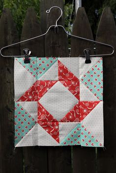 2012 Mystery Block of the Month from Fat Quarter Shop- Block One- Laundry Days