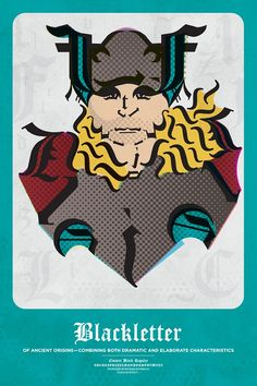 Thor made out of a font