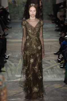 Avant- Gard with a Dash of Tradition Brown Evening Gown - Valentino Spring 2014 Couture - Collection - Gallery - Style.com