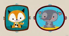 samba for rats: baby animal cards