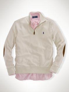 Pima Cotton Half-Zip Pullover - Polo Ralph Lauren Sweatshirts - RalphLauren.com