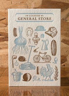Calendar by Norman's printery (via designworklife)
