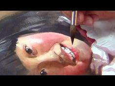Watercolor portrait of a child from photograph, part 2 - YouTube