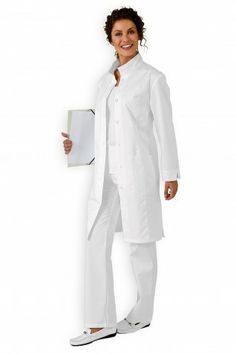 Blouse médicale mi-longue Mi Long, Clinic, Duster Coat, Jackets, Dresses, Fashion, Long Dress Patterns, Mantle, Woman