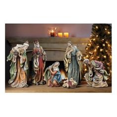 Napco 46008 Nativity Set Figurine (Pack of As Shown Christmas Nativity Set, Christmas Minis, Christmas Baby, Christmas Stuff, Nativity Scene Sets, Nativity Scenes, Christmas Trends, Mould Design, Vintage Holiday