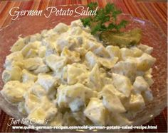 Traditional Cold German Potato Salad -- from northern Germany. Check out http://www.quick-german-recipes.com/cold-german-potato-salad-recipe.html
