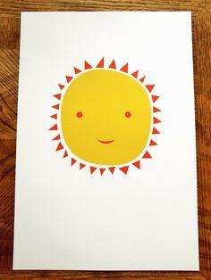 Ms. Sun a modern design print 13x19 by finkastudio on Etsy