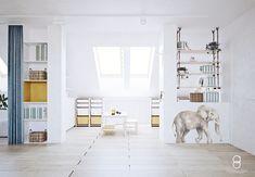 kids attic playroom / bawialna na poddaszu Attic Playroom, Divider, Anna, Kids, Furniture, Home Decor, Young Children, Boys, Decoration Home