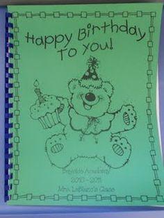 Happy Birthday Class Book