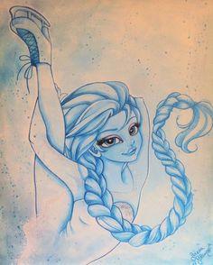 'Pattinatrice' Elsa di Frozen di Serena Solange Carluccio #Elsa