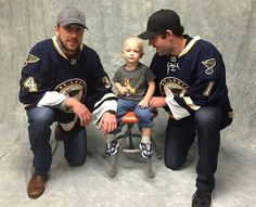 Brian Elliott and Jake Allen spent their day with Flashes of Hope at Children's Hospital. Flashes of Hope is a national nonprofit organization that brings professional photographers and make-ups artist to children's hospitals to provide free uplifting portraits of children battling cancer