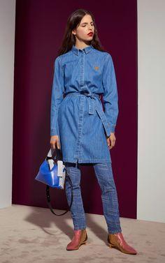 Enter the world of KENZO clothing on KENZO official website. Denim Shirt Dress, Denim Jeans, Kenzo, Blue Denim, Blues, Jackets, Shirts, Dresses, Fashion
