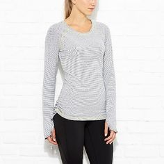 Dashing Stripes Long Sleeve | Running Top | lucy activewear