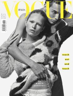 Anna Ewers and David Friend by Mario Sorrenti Vogue Italia May 2017