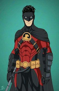 Tim Drake Red Robin, Robin Dc, Dc Comics Super Heroes, Marvel Heroes, Superhero Characters, Dc Comics Characters, Batman Redesign, Hq Marvel, Arte Dc Comics