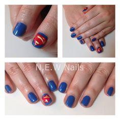 Superman Nails! Nail Art