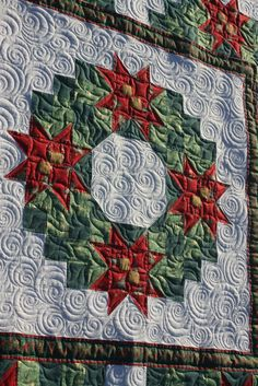 Christmas Wreath...quilted by Charisma