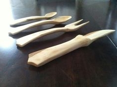 Great set made from Cherry wood.