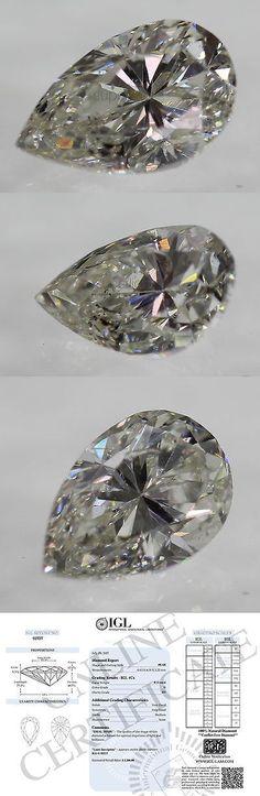 loose Diamonds : Natural Diamonds 3824: Certified 0.55 Carat G Color Si1 Pear Cut Natural Loose D