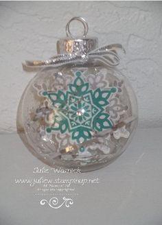 Beautiful ornament - get the Festive Flurry ornament kit at StampUpaStorm.com
