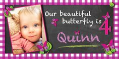 What a CUTE pink, butterfly Personalized banner for Shelby's Birthday! Personalized Happy Birthday Banner, Personalized Birthday Banners, Happy Birthday Banners, Princess Birthday, 21st Birthday, Car Banner, Pink Butterfly, Beautiful Butterflies, Cute Pink