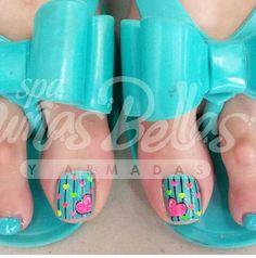 Nails Pedicure Designs, Toe Nail Designs, Acrylic Nail Designs, Cute Toe Nails, Diy Nails, Pretty Nails, Nail Polish Art, Toe Nail Art, Acrylic Nails At Home