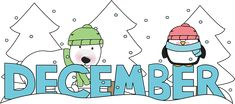 Free December Clip Art of Month of december clipart image for your personal projects, presentations or web designs. Christmas Pictures, Christmas Themes, Christmas Stuff, Precious Moments Quotes, 30 Days Photo Challenge, Calendar Pictures, December Baby, Jesus Birthday, Numbers Preschool