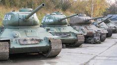 Vojenské Muzeum na demarkační linii v Rokycanech expozice historických válečných tanků. T 34, Military Vehicles, Webhosting, Army Vehicles