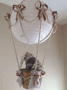 Hot Air Balloon Lamp light shade Starry night Beige