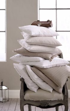 A stack of fluffy pillows...it can't get any better than that