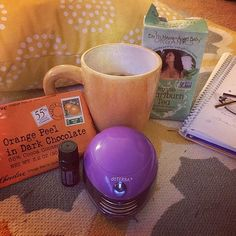Chocolate and Earth Mama® tea? How's that for a #MugShotMonday? #regram from @gia.bo.bia I've got my lavender oil, my diffuser, my dark chocolate some journaling down and a nice cup of earth mama angel baby tea How this Prego mama unwinds after an emotional day and the kiddo is asleep for the night #earthmamaangelbaby