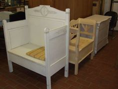 Benches Made From Bed Frames | Bench made out an old bed frame