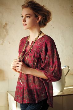 Clara Peasant Blouse - Anthropologie.com