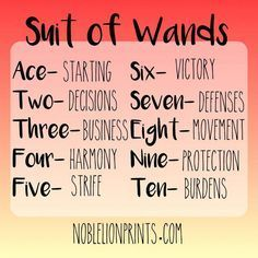 Numerology Reading - Suit of Wands - Ace to Ten Quick Reference Visit www. for more tarot tips! - Get your personalized numerology reading Tarot Decks, Reiki, Tarot Significado, Tarot Cards For Beginners, Tarot Card Spreads, Tarot Astrology, Oracle Tarot, Tarot Card Meanings, Card Reading