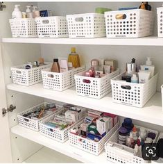 This is a beautiful example of simplicity & style. Matching your organizational baskets/containers/totes is a must! This is a beautiful example of simplicity & style. Matching your organizational baskets/containers/totes is a must!